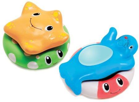 Munchkin игрушки для ванны Весёлые приятели со спасательными кругами   от 6 мес