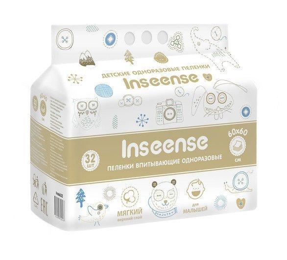 Купить Inseense пеленка впитывающая одноразовая 60*60 32шт