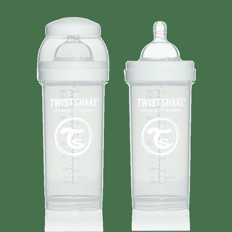 TWISTSHAKE бутылочка для кормления 260 мл с контейнером для сухой смеси и соской 2+, белая TWISTSHAKE бутылочка 260
