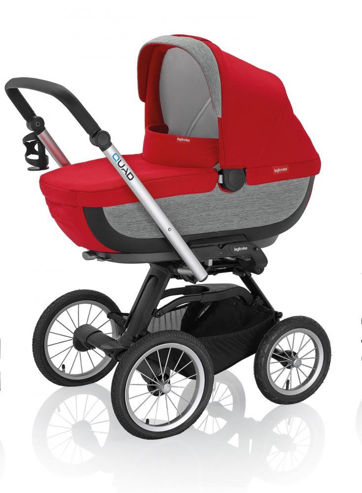 Inglesina коляска quad на шасси quad xt black (ab60g0shr + ae64g0000) sahara
