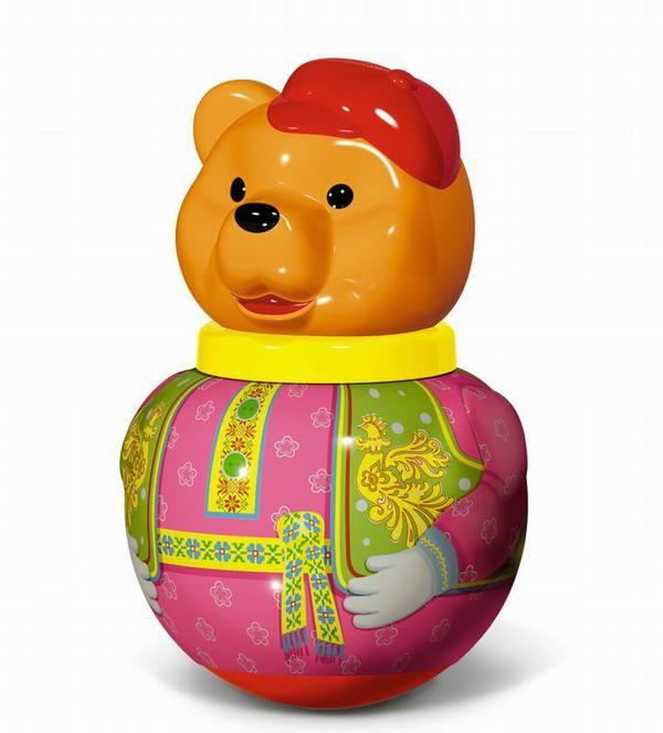 Купить Первые игрушки, погремушки, Неваляшка бурый медведь Потапыч, STELLAR