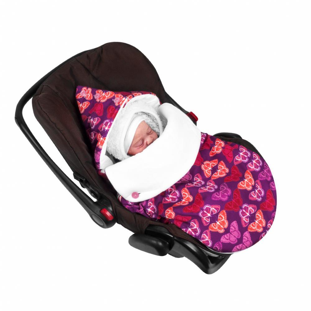 MIKKIMAMA Конверт для новорождённого в автокресло &quot,Кашемировые бабочки&quot, (летний)