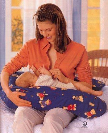 "Theraline подушка для кормления 170 см синяя ""Медведи"""