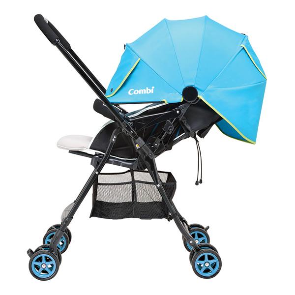 COMBI коляска прогулочная Well Comfort (BL) цв. голубой New