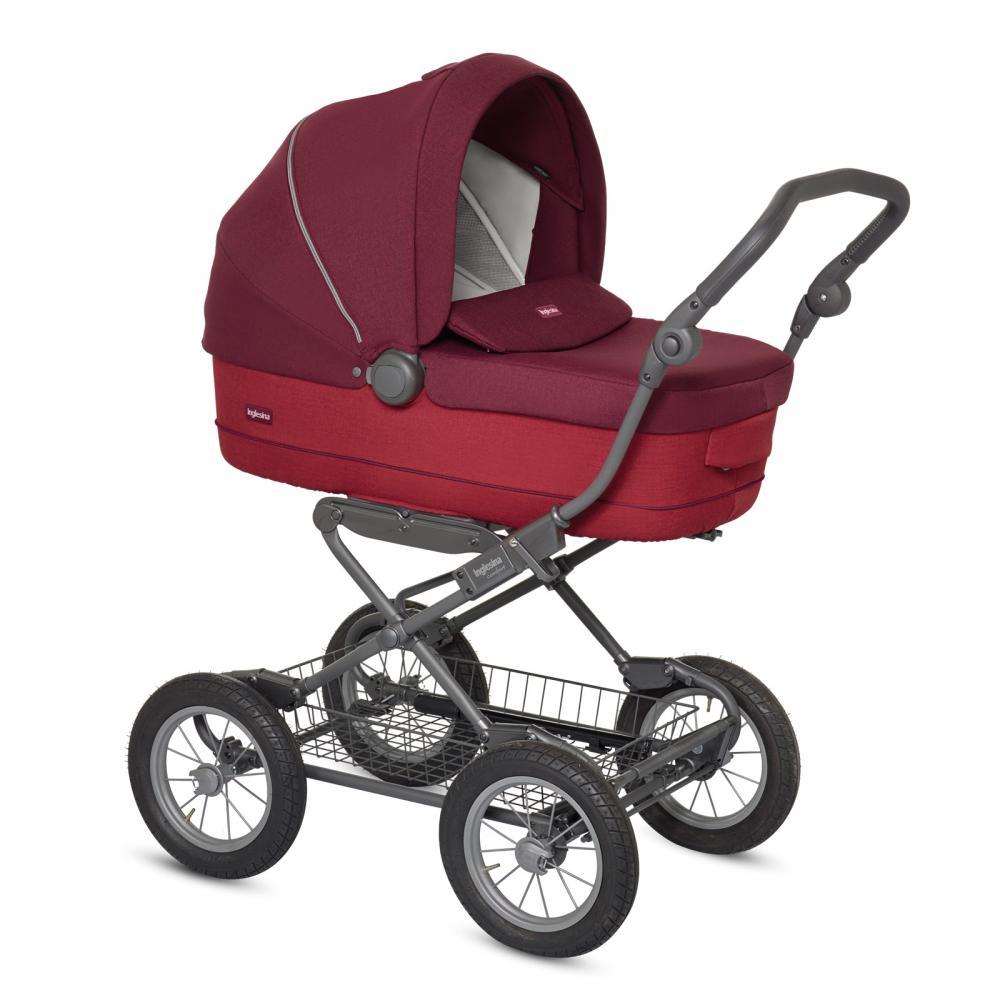 Купить Коляски для новорожденных, INGLESINA коляска Sofia 2 в 1 цв. Ruby Red на шасси Ergobike Slate (AA15J6RBR + AE15H6100)