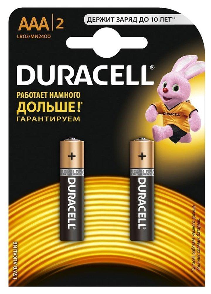 DURACELL элемент питания DURACELL LR03  BL2(AAA), 2шт.