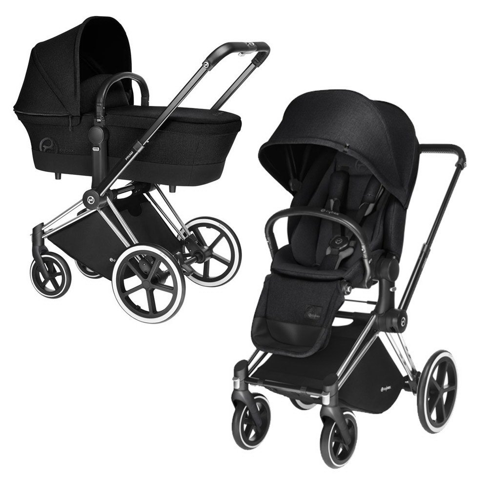 Купить Коляски для новорожденных, CYBEX Коляска 2 в 1 Priam Stardust Black на шасси Chrome с колесами All Terrain