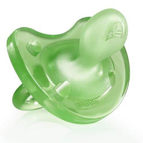 CHICCO пустышка Physio Soft,1шт.,4мес.+,силикон,зеленый