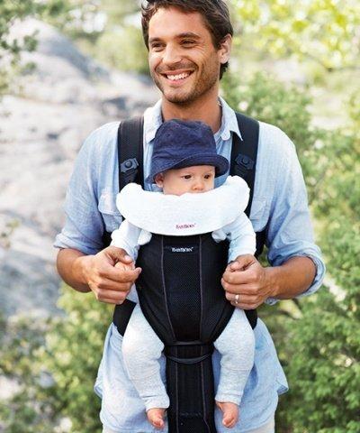 BABYBJORN нагрудник к рюкзаку для переноски 2 шт. черный