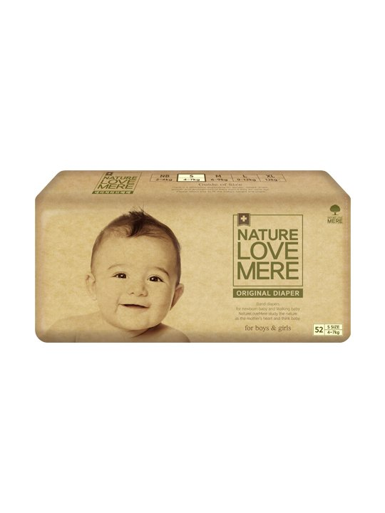 Nature Love Mere ORIGINAL BAsiC DIAPER подгузники S 4-7 кг, 52 шт.