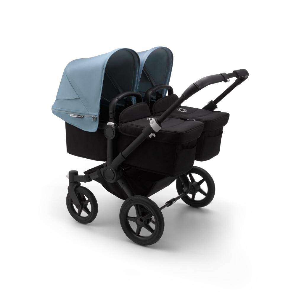 Bugaboo Donkey3 коляска 2 в 1 для двойни Twin Black/Black/Vapor Blue
