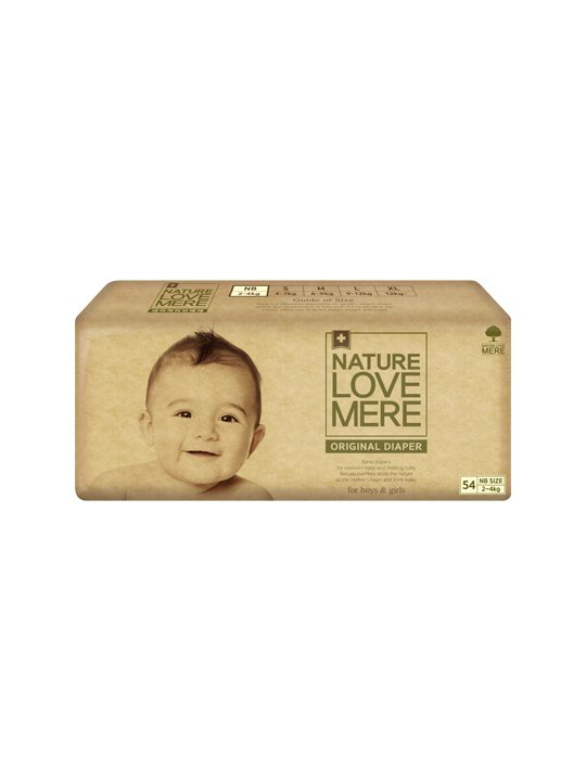 Nature Love Mere ORIGINAL BAsiC DIAPER подгузники NB 2-4 кг, 54 шт.