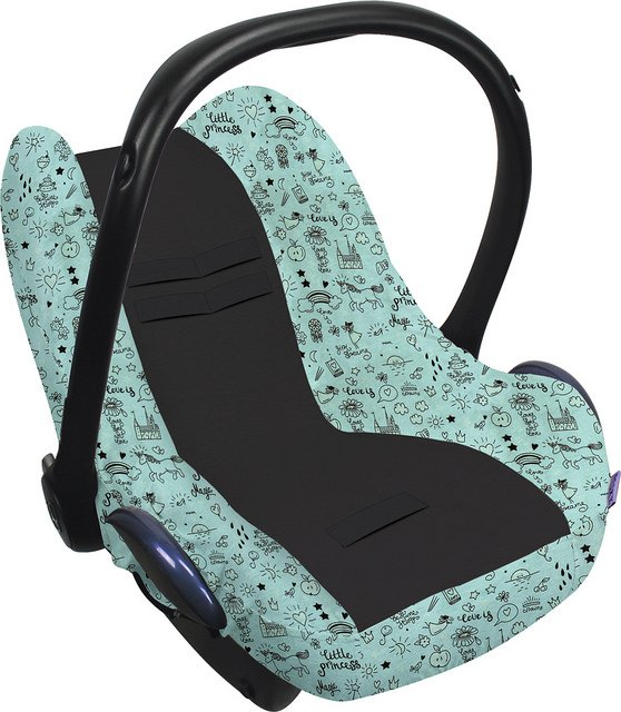 Xplorys Чехол в автокресло DOOKY Seat cover 0+ цв. Little Princess-Glow in the Dark