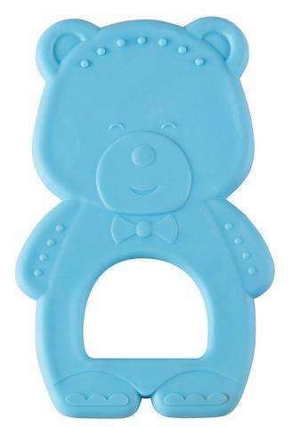 HAPPY BABY  Прорезыватель термоэластичный TEETHER TEDDY BEAR blue
