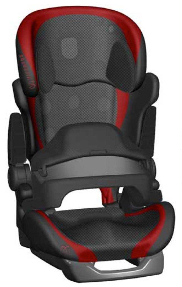 CARMATE автокресло SARATTO CRUISE 4S гр. 1/2/3 (9-36 кг) черно-красное