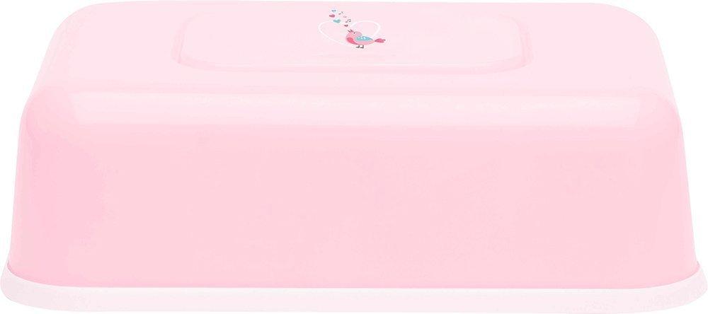 BEBE JOU футляр пластиковый для  влажных салфеток нежно-розовый Птички певчие NEW