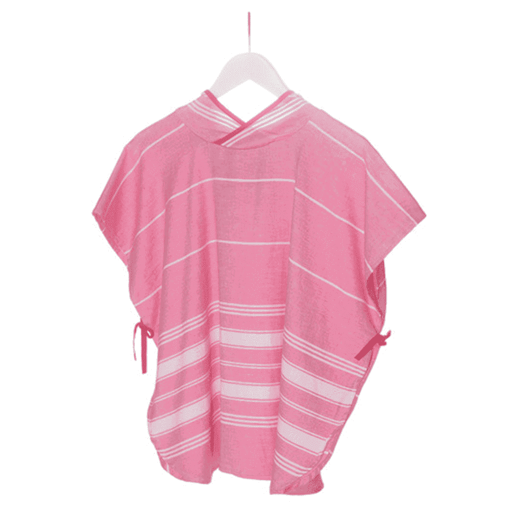 KIPKEP полотенце-пончо М  3-5 лет, розовый