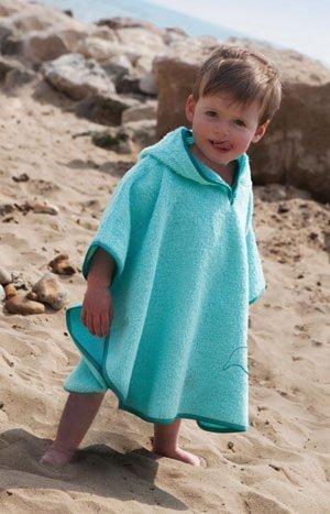 CUDDLEDRY накидка  с капюшоном для малышей ДЕЛЬФИН с защитой от ультрафиолетовых лучей  SPF50