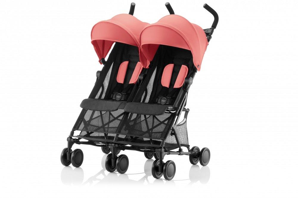 Britax прогулочная коляска для двойни holiday coral peach