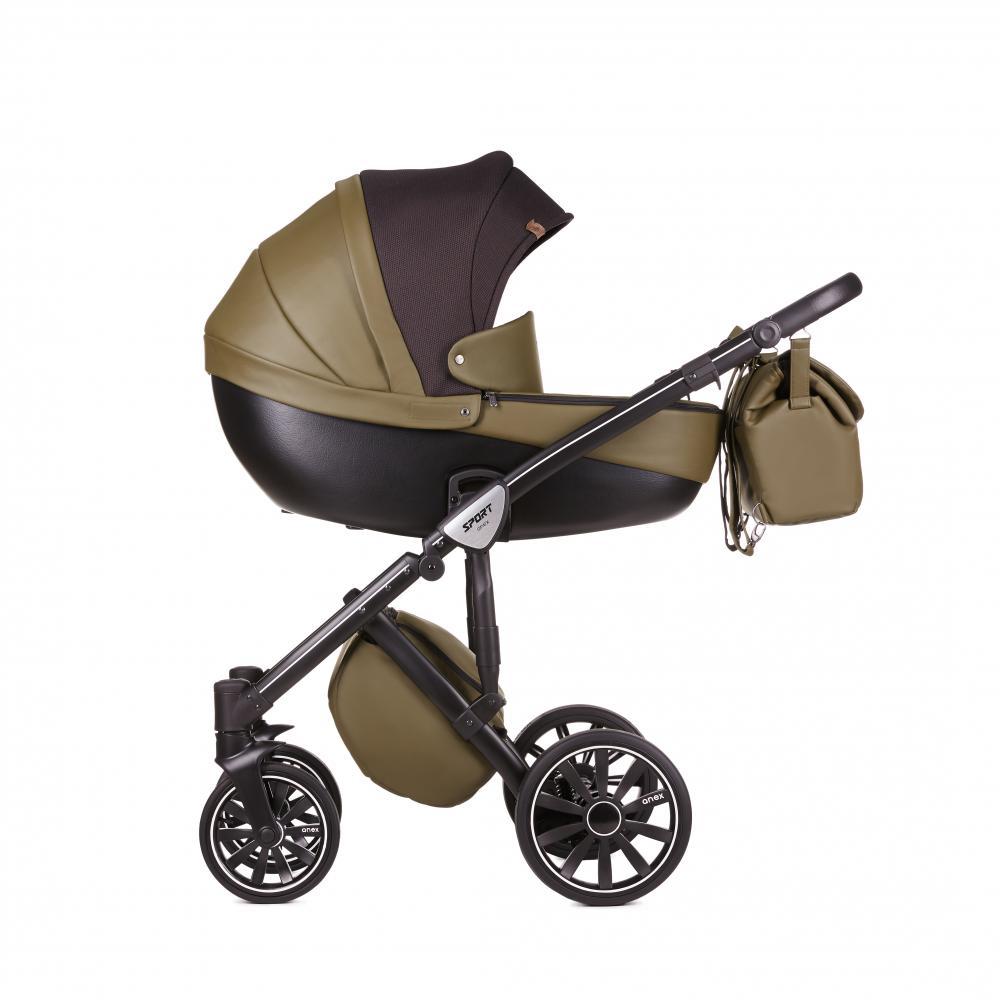 Купить Коляски для новорожденных, ANEX Коляска 3 в 1 SPORT Q1 (SE03) dark forest