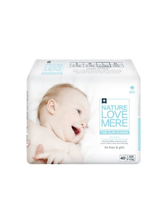 Nature Love Mere SLIM PREMIUM DIAPER подгузники L 9-12 кг, 40 шт.