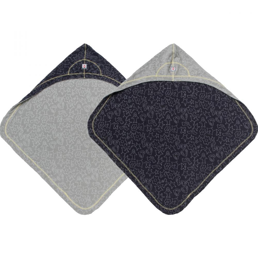 LODGER полотенце с капюшоном Coal 70х70 см.0-12 мес.