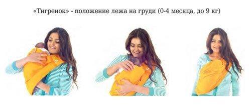 TheBABASLING переноска Слинг ЛАЙТ Фуксия  0-24 мес
