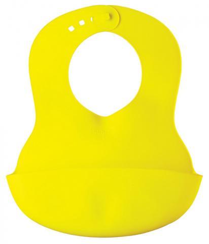 HAPPY BABY  Нагрудник пластиковый lime