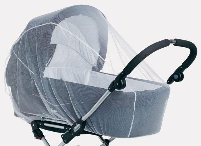 SAFE&CARE защита от комаров для коляски  белая
