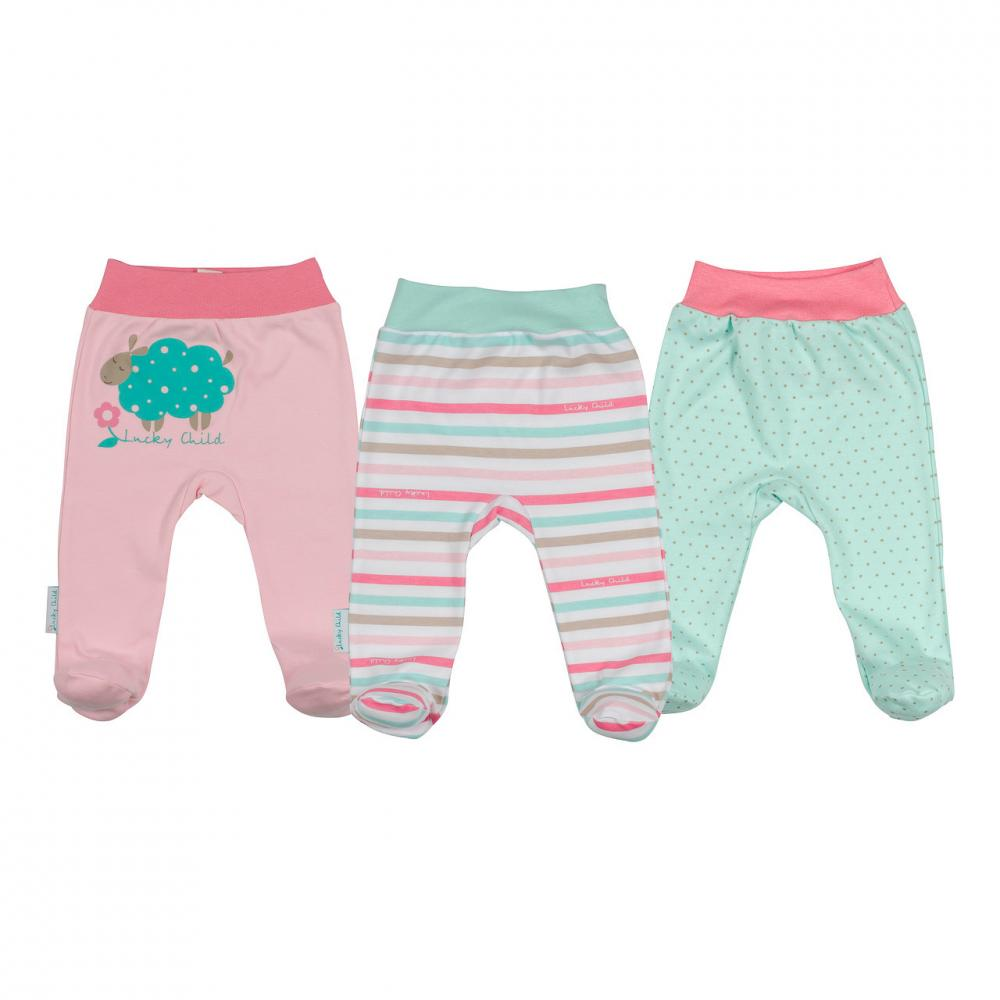 LUCKY CHILD комплект детский: ползунки 3 шт. (размер 24 (74-80))