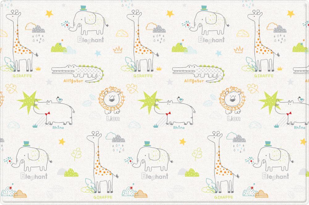 Купить Коврики для детской комнаты, PARKLON Двухсторонний коврик Pure Soft Арт-деко/Зоопарк 190x130x1.2