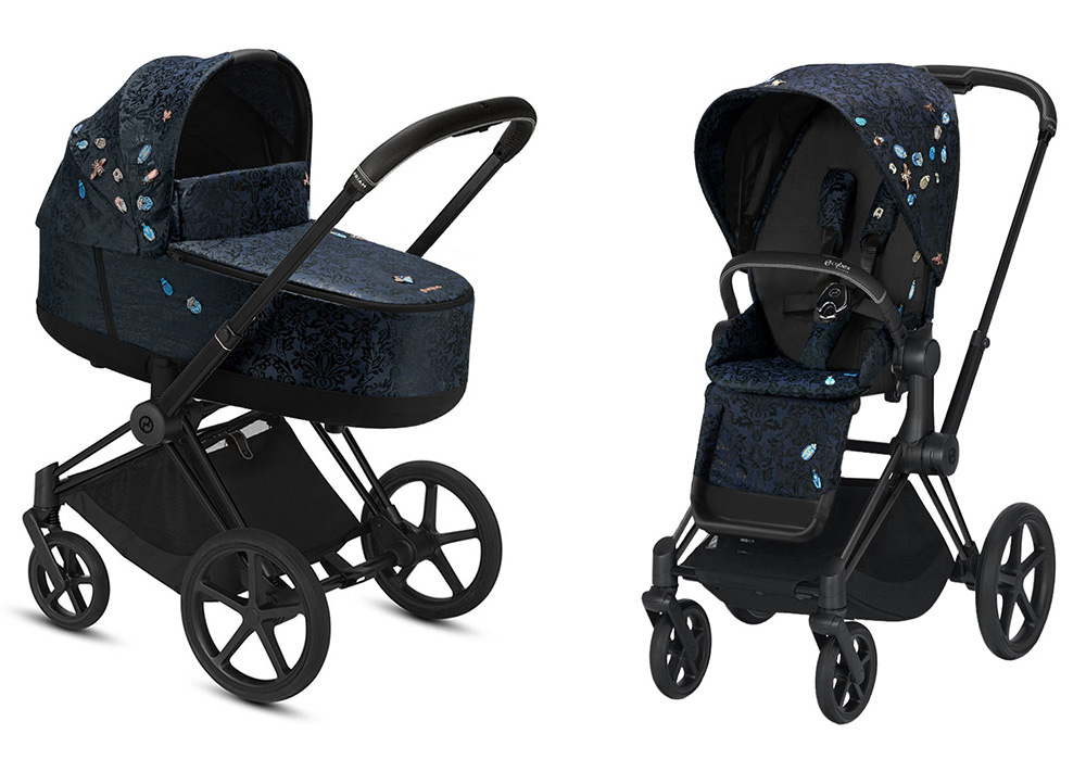 Cybex Priam III коляска 2 в 1 Matt Black / Jewels of Nature