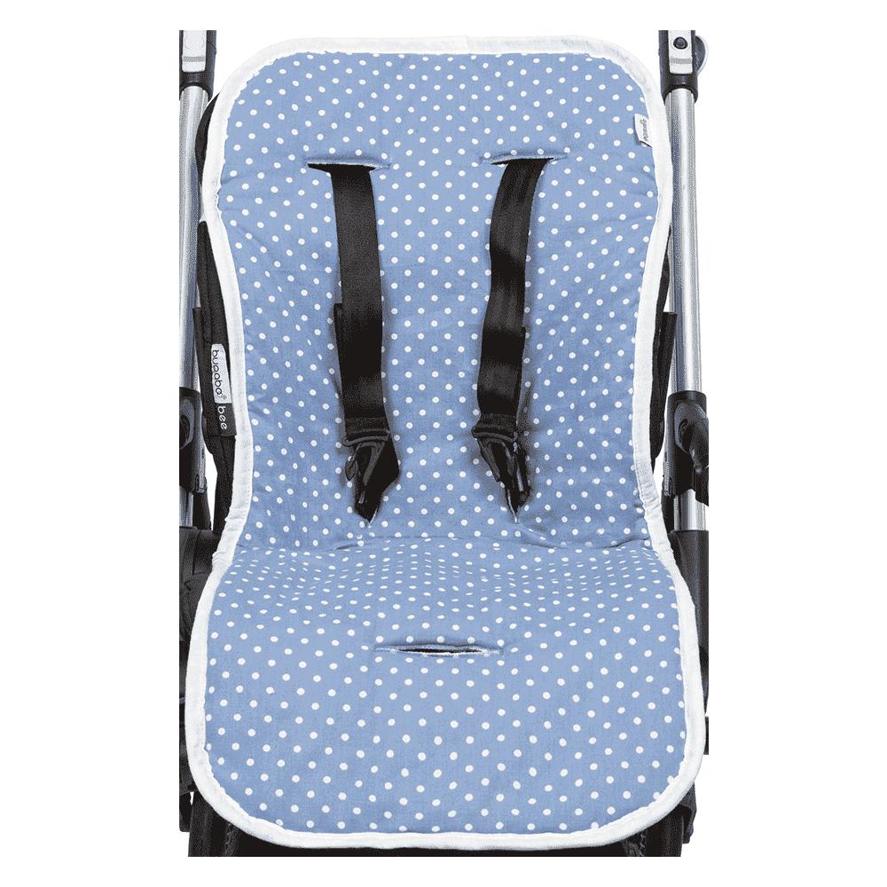 MAMMIE  Хлопковый матрасик в коляску и автокресло -небесный горошек