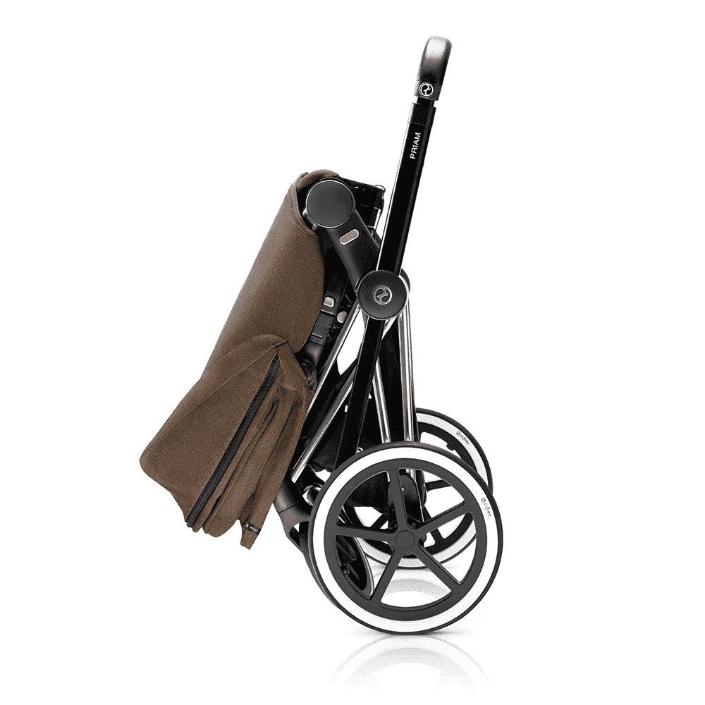 CYBEX коляска прогулочная PRIAM, шасси Matt Black с колесами Trekking, Cashmere Beige от olant-shop.ru