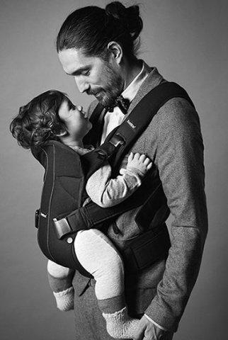 BABYBJORN рюкзак для переноски ребенка ONE деним синий Soft cotton
