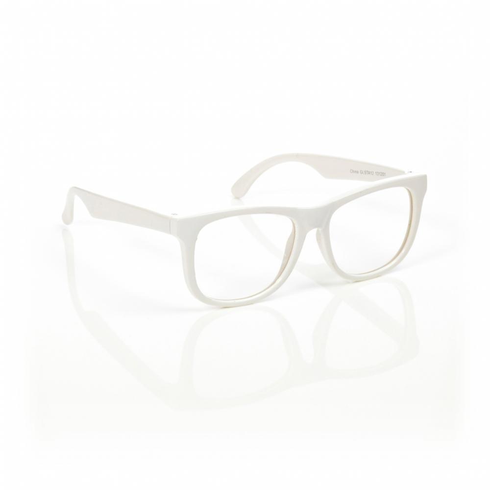 MUSTACHIFIER Детские солнечные очки, белый глянец, черные стекла