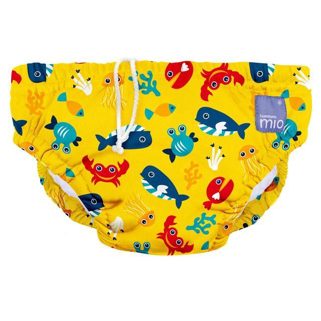 Купить Полотенца, халаты, плавки, BAMBINO MIO трусики для Бассейна Small (5-7кг), BAMBINO MIO трусики для бассейна S до 6 мес. желтые
