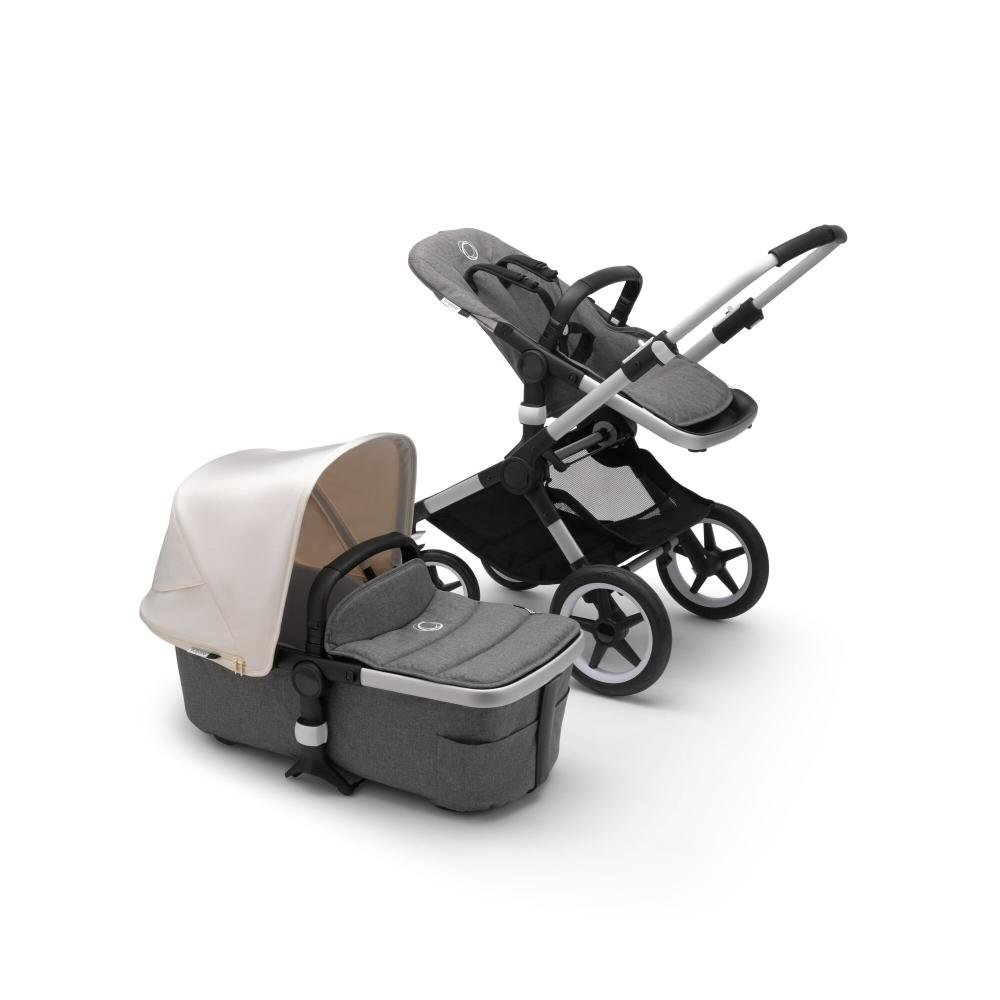 Bugaboo Fox2 коляска 2 в 1 Alu/ Grey Melange/ Fresh White
