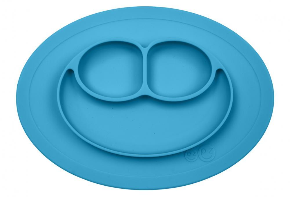 EZPZ Тарелка с подставкой ezpz Mini Mat, синий