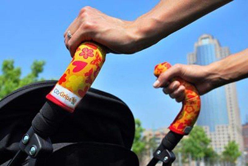 CityGrips Чехлы на ручки для коляски-трости  Grey elephant CITYGRIPS_чехол трость