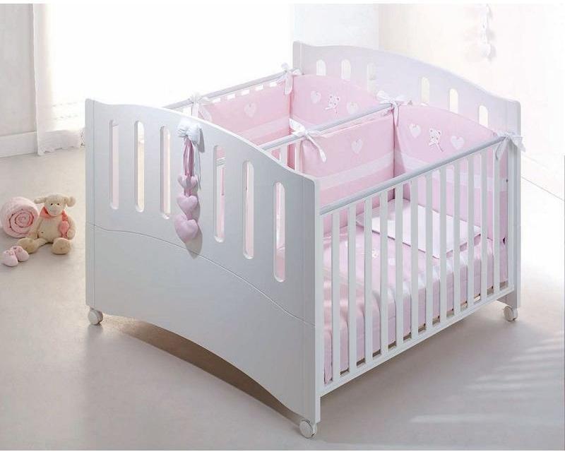 Azzurra кровать детская для двойни gemini белая