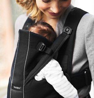 BABYBJORN рюкзак для переноски ребенка  Miracle черный/коричневый Organic