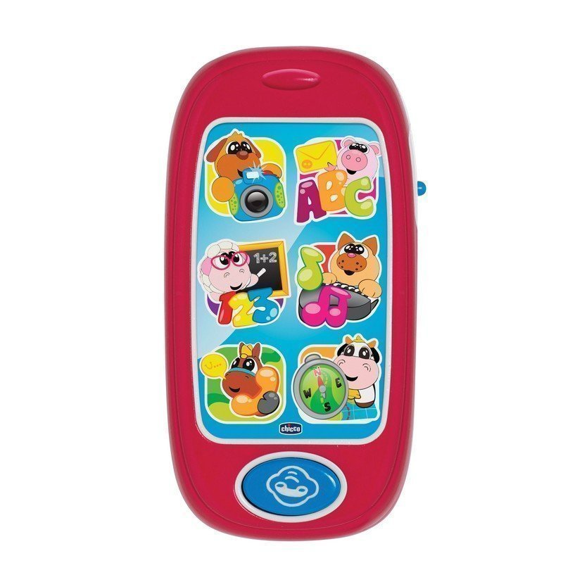 С музыкой и голосами животных CHICCO игрушка пл муз говорящий смартфон авс chicco toys