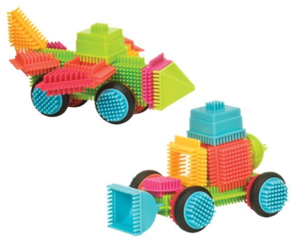 BATTAT Bristle Blocks конструктор игольчатый в чемоданчике (85 деталей) от olant-shop.ru