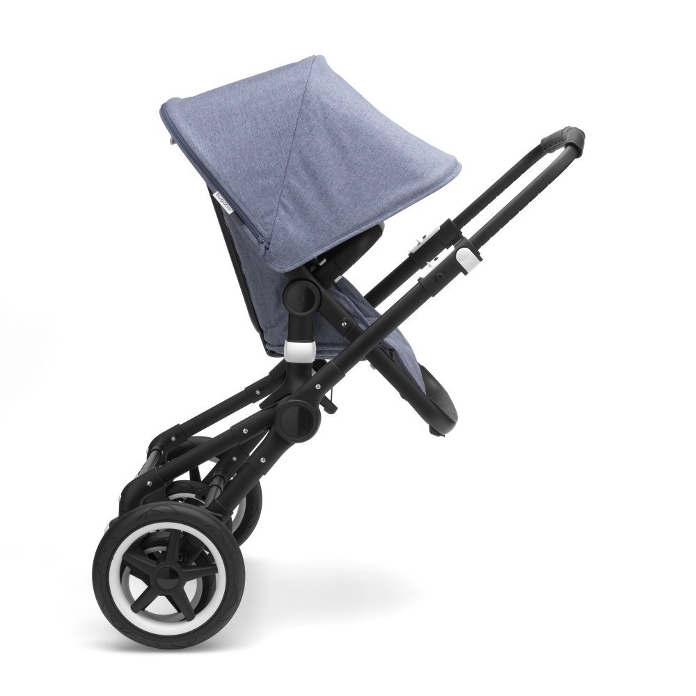Bugaboo FOX Коляска 2 в 1 BLACK/ GREY MELANGE/ SOFT PINK (капюшон Fox2)