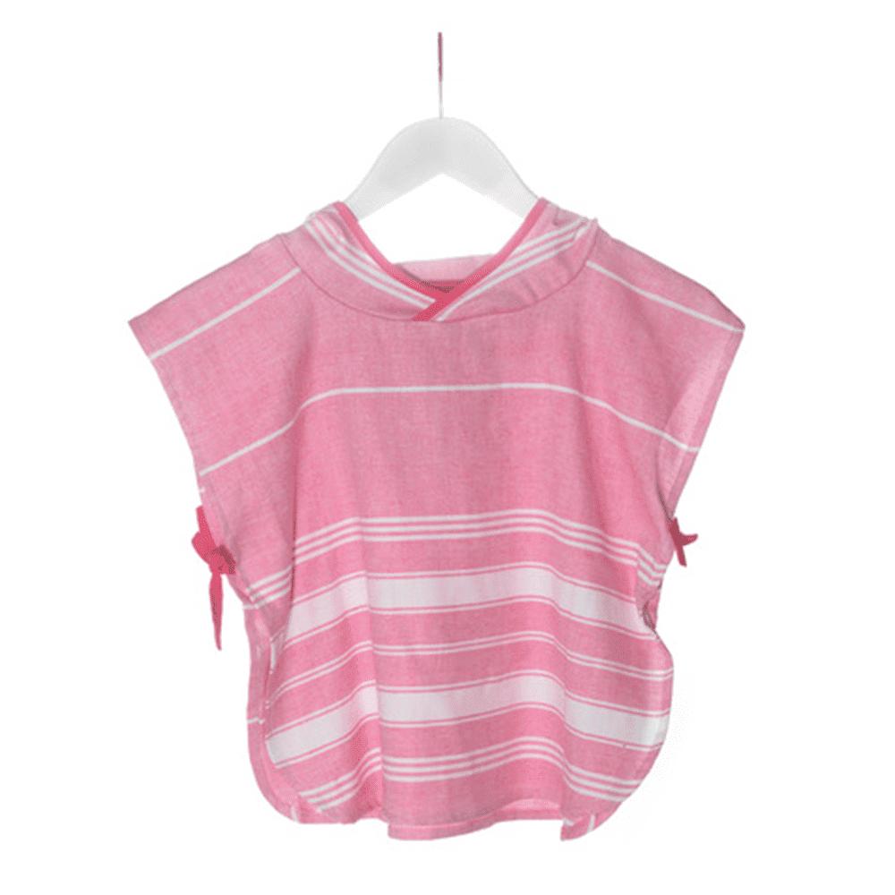 KIPKEP полотенце-пончо S  1-2года, розовый
