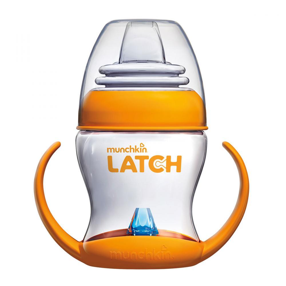 Купить Поильники, первые чашки, LATCH munchkin обучающий поильник-чашка с ручками 120мл. 4+