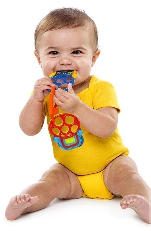 O-BALL прорезыватель для зубок Разноцветные ключики
