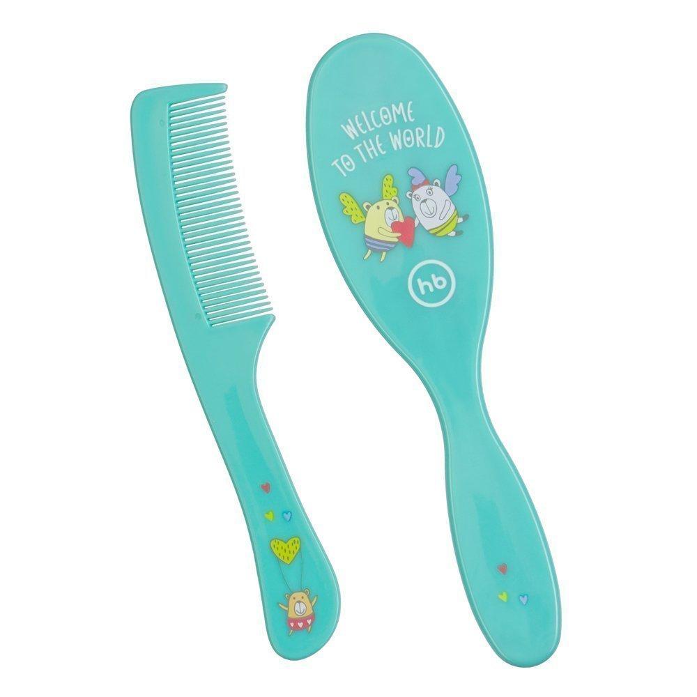 HAPPY BABY Набор детских расчесок для волос  BRUSH COMB SET MINT