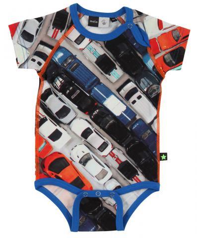 Купить Ползунки, боди, распашонки, слипы, MOLO боди с коротким рукавом Feodor-Toy cars р.56-62